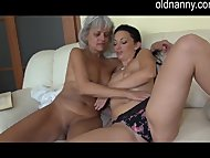 Old mature licking young ...