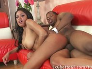 Ebony girl with big natur...