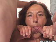 Naughty granny takes two ...