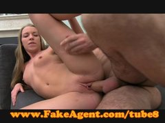 FakeAgent Blonde amateur fucks in casting