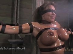 18 Year Old Gets Fucked by Big Black Cock in Bondage