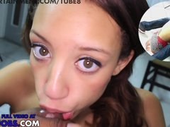 18 yr old mixed teen nikki dream gives me amazing pov hidden cam blowjob