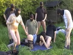 Wife fucked by many men at the highway rest area