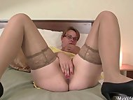 Horny mother in law enjoy...
