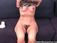 Hairy granny has a wet spot in her panties view on tube8.com tube online.