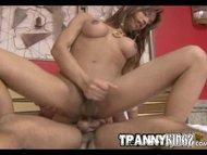 Sexy Lingerie Tranny Hard...