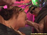 Crazy mouth meat blowbang...