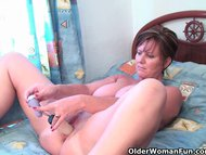 Classy granny plays with …
