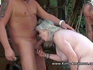 Busty mature Kims amateur...