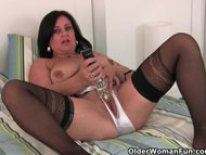 Hard nippled milf wears s…