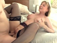 Big boobed blonde milf in...