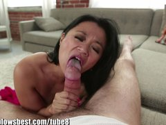 Stepmom Lucky Starr is sucking my best friend