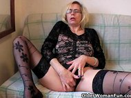 Perverted granny pushes h…