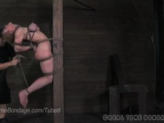 MILF Darling Caned  Whipped and Put into Tough Bondage