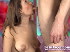 She gives him Valentine BJ  he gives her HUGE facial