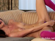 Petite beauty cums from h...