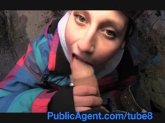 Audition British Casting video: PublicAgent Yana the street dancer fucks to be on talent TV Show