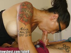 MommyBB Dana Vespoli caughts her stepson jerking off