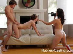 Brunette Cuminmouth Doggy video: Nubiles Casting - CA hottie wants to be a pornstar