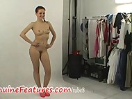 Amazing czech redhead does sexy striptease
