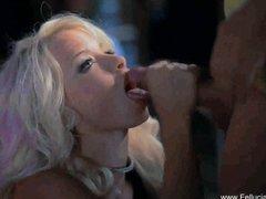 Blondes Oral Handjob video: Sparkle Blowjob