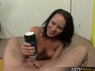 Katie St Ives shows off h...