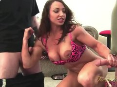 Brunette Femalebodybuilder Femalemusclepornstarscom video: BrandiMae - Dirty Talk and Two Cocks