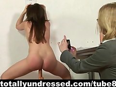 Hardcore Fingering Toys video: Kinky job interview