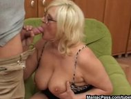 Blonde granny loves it ro...