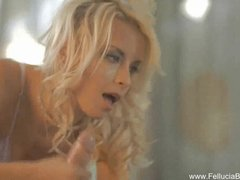 Blonde Handjob Glamour video: Daydreaming For a Blowjob