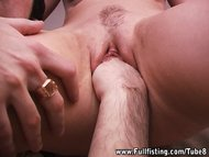 Sweet little Teen Girlfriend Takes Whole Fist