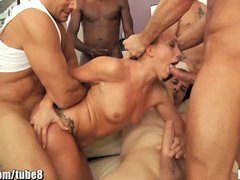 Blonde Blowjob Facial video: HardX AJ Applegate in Facialized