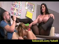 Threesome Action during class