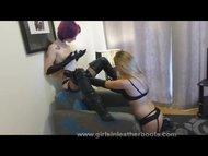 Lesbian mistress finds sl...