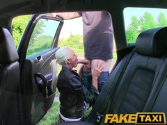 Teen Blowjob Blond video: FakeTaxi Real amateur teen drops panties and lets taxi driver fuck her