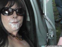 Hot wife gangbanged at...