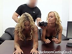 Fingering Pov Blowjob video: 2 Busty Girlfriends Walk Into An Office...