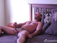 Excited Straight Blake Masturbating