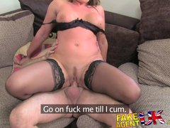 Hardcore British xxx: FakeAgentUK Fucking rimming and creampie for escort seeking porn work