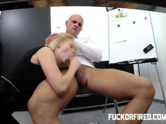 Blonde Blowjob Cocksucking video: Will a fuck make up for her attitude?