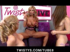 TWISTYS LIVE SHOWS  PORNSTARS Nicole Graves  Sabrina Maree and Taylor Vixen