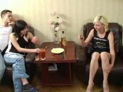 college students drunk Swingers party Foursome group orgy sex