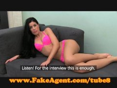FakeAgent Brunette s pussy hungry for spunk