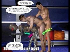FIRST ANAL CONTACT 3D Gay Cartoon Comics Anime Hentai Scifi Animated Story