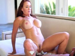 HD   PureMature Bathing Janet Mason gets juicy creampie