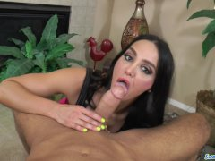 Amy Anderssen fucks like tiny rabbit and swallows big load