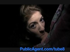 PublicAgent Elis blackmailed into sex outside with big cock