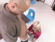 hot blonde working studen...