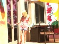 petite blonde gives a blo...