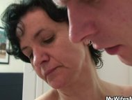 Mature lady surprised by ...